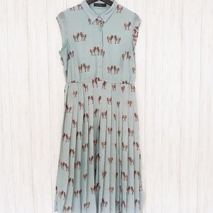 Sugarhill Boutique | Donkey Pleated Teal Dress
